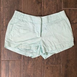 J crew aqua chino shorts